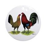 American Gamefowl Pair Ornament (Round)