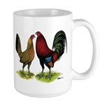 American Gamefowl Pair Large Mug