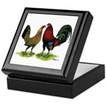 American Gamefowl Pair Keepsake Box