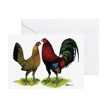 American Gamefowl Pair Greeting Cards (Pk of 10)