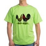 American Gamefowl Pair Green T-Shirt