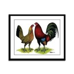 American Gamefowl Pair Framed Panel Print