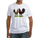 American Gamefowl Pair Fitted T-Shirt