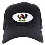 American Gamefowl Pair Black Cap