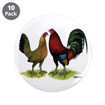 "American Gamefowl Pair 3.5"" Button (10 pack)"