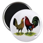 "American Gamefowl Pair 2.25"" Magnet (100 pack"