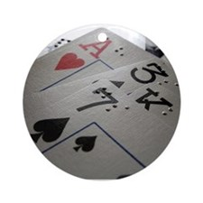 Braille Playing Cards Ornament (Round)