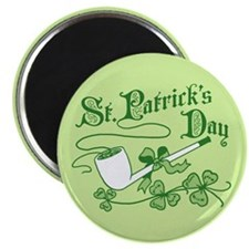St Patrick's Day Pipe Magnet
