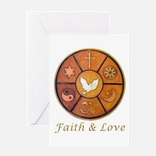 """Interfaith """"Faith & Love"""" Greeting Card"""