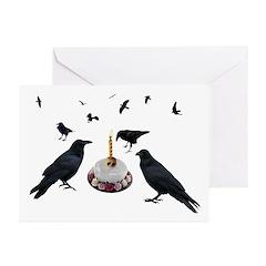 Crow Cake Birthday Greeting Cards (Pk of 10)