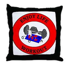 Enjoy Life Workout Throw Pillow