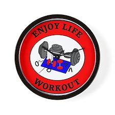 Enjoy Life Workout Wall Clock
