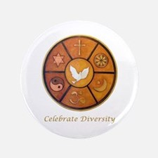 """Celebrate Diversity"" 3.5"" Button"
