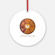 """Celebrate Diversity"" Ornament (Round)"