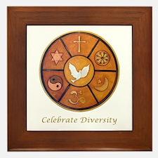 """Celebrate Diversity"" Framed Tile"