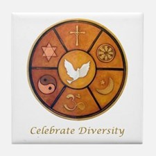 """Celebrate Diversity"" Tile Coaster"
