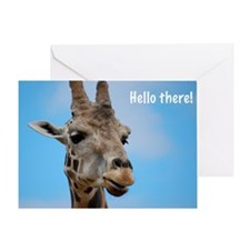 Hello Giraffe Greeting Card