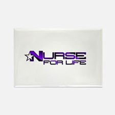 Nurse For Life Star Rectangle Magnet