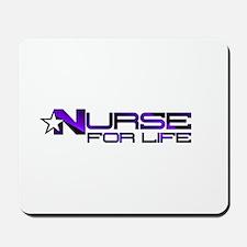 Nurse For Life Star Mousepad