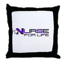 Nurse For Life Star Throw Pillow
