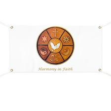 """""""Harmony in Faith"""" Banner"""