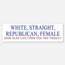 REPUB FEMALE Bumper Bumper Bumper Sticker