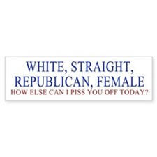 REPUB FEMALE Bumper Bumper Sticker