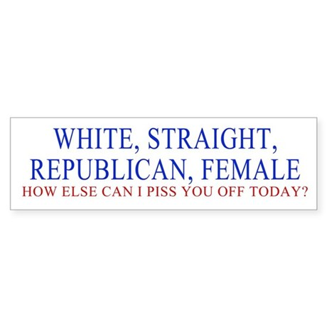 REPUB FEMALE Bumper Sticker