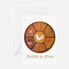 """Interfaith """"Faith is Free"""" Greeting Card"""