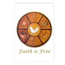 "Interfaith ""Faith is Free"" Postcards (Package of 8"