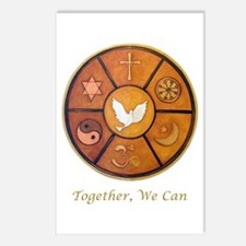 """Interfaith """"Together, We Can"""" Postcards (Package o"""