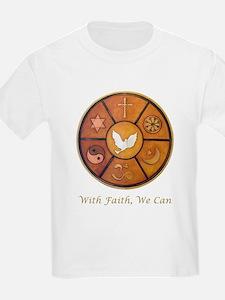 """""""With Faith, We Can"""" T-Shirt"""
