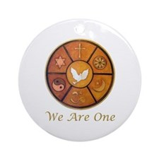 """Interfaith """"We Are One"""" Ornament (Round)"""