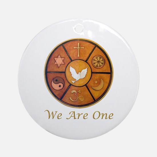 "Interfaith ""We Are One"" Ornament (Round)"