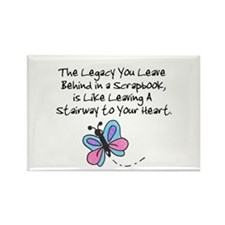 Scrapbooking Legacy Rectangle Magnet