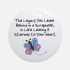Scrapbooking Legacy Ornament (Round)