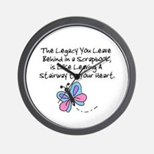 Scrapbooking Legacy Wall Clock