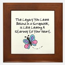 Scrapbooking Legacy Framed Tile