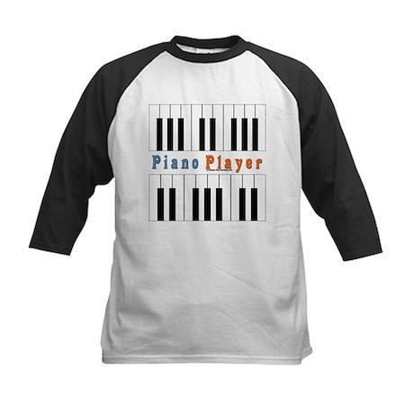 Piano Player Jam Shirt Kids Baseball Jersey