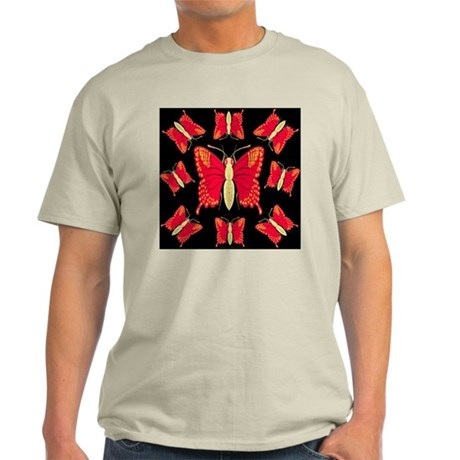 Red Dragon Swallowtails Ash Grey T-Shirt