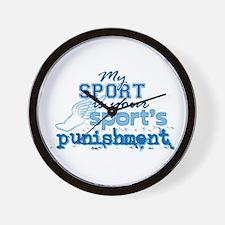 Sport Punishment blue Wall Clock