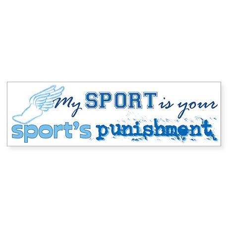 Sport Punishment blue Sticker (Bumper)