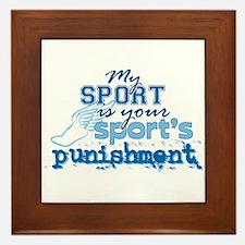 Sport Punishment blue Framed Tile