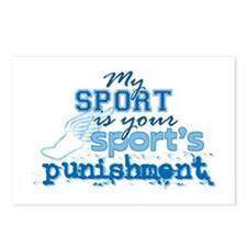 Sport Punishment blue Postcards (Package of 8)