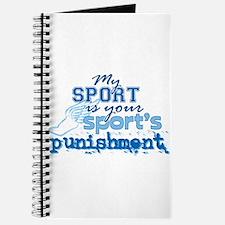 Sport Punishment blue Journal