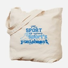 Sport Punishment blue Tote Bag