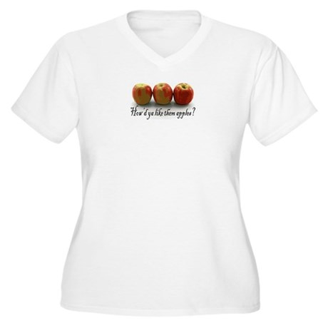 Them Apples Women's Plus Size V-Neck T-Shirt