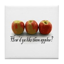 Them Apples Tile Coaster