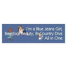 Blue Jeans Girl Bumper Sticker