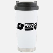 Retro Tech Stainless Steel Travel Mug
